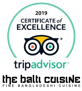 tripadvisor certificate of excellence the balti cuisine