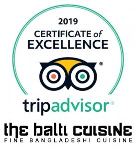 tripadvisor certificate of excellence the balti cuisine